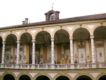 university, italian building in white and yellow