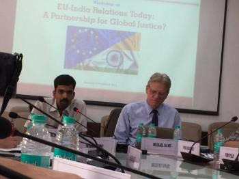 Workshop on EU-India relations at O.P. Jindal Global University on 6 November 2017.