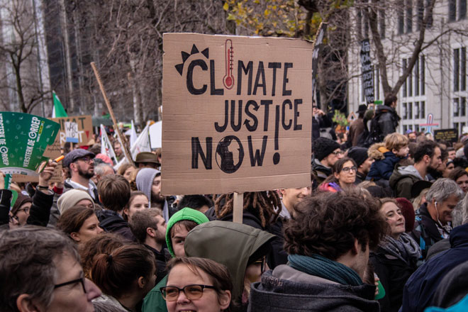 Protesters in brussels - climate march