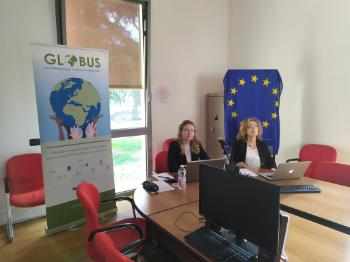 GLOBUS researchers Michela Ceccorulli and Sonia Lucarelli (University of Bologna) joined the policy dialogue via video from Bologna.