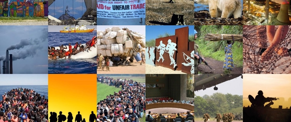 Global justice collage
